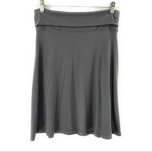 Old Navy Womens Gray A Line Midi Skirt Size Small